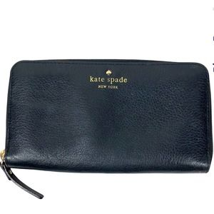 KATE SPADE Black Lacey Cobble Hill Leather Wallet
